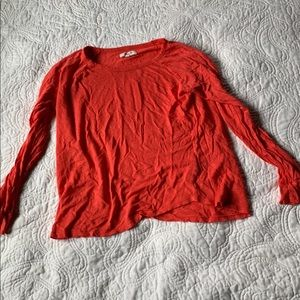 Made well Flame Orange 100% Linen Shirt Small